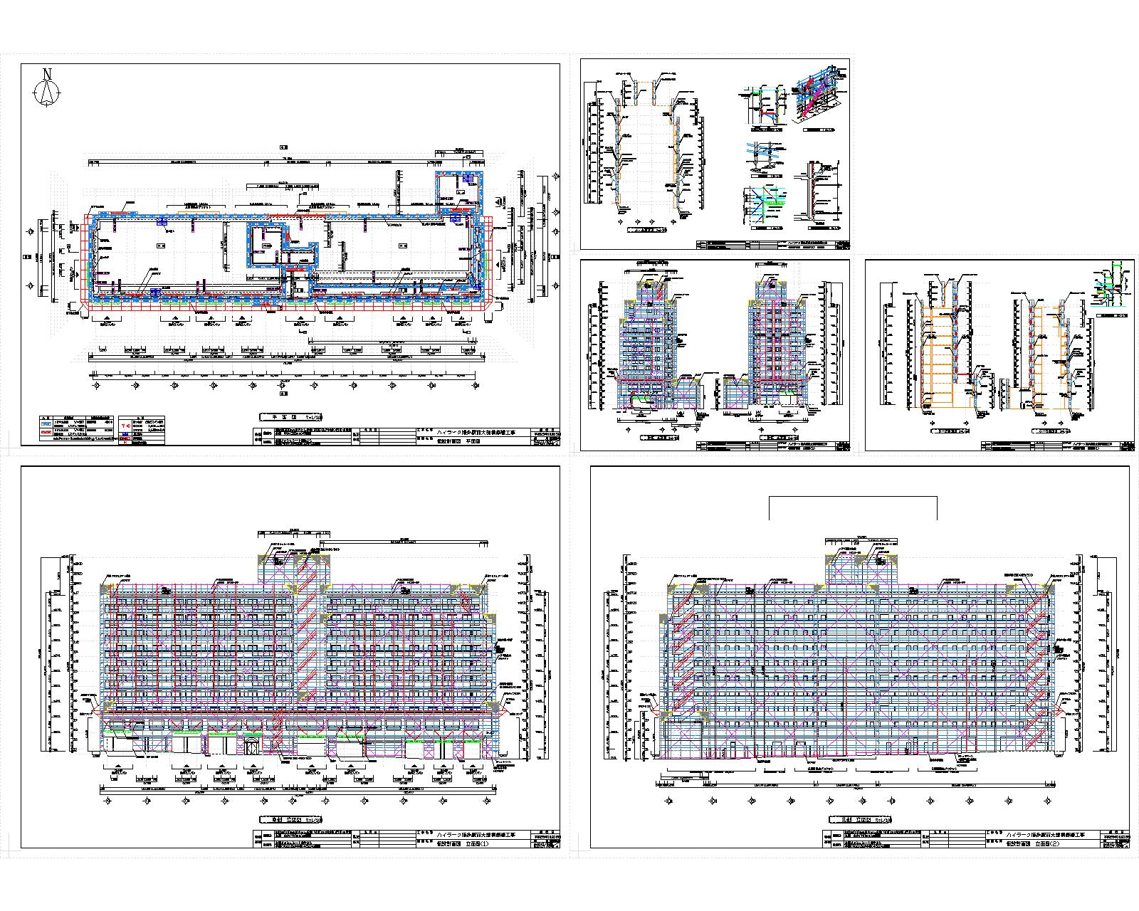 ハイラーク博多 外部足場計画図 修正1016-モデル