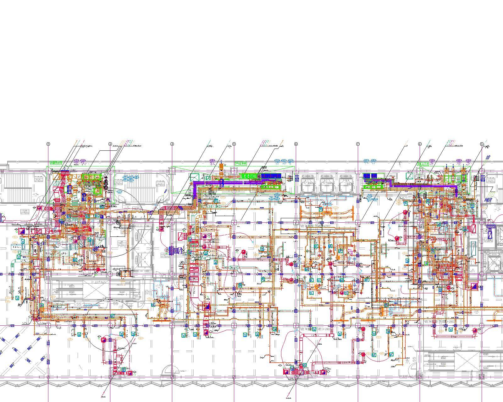 613_6階+ダクト・配管平面図.dwg新_⑦_3.6-モデル
