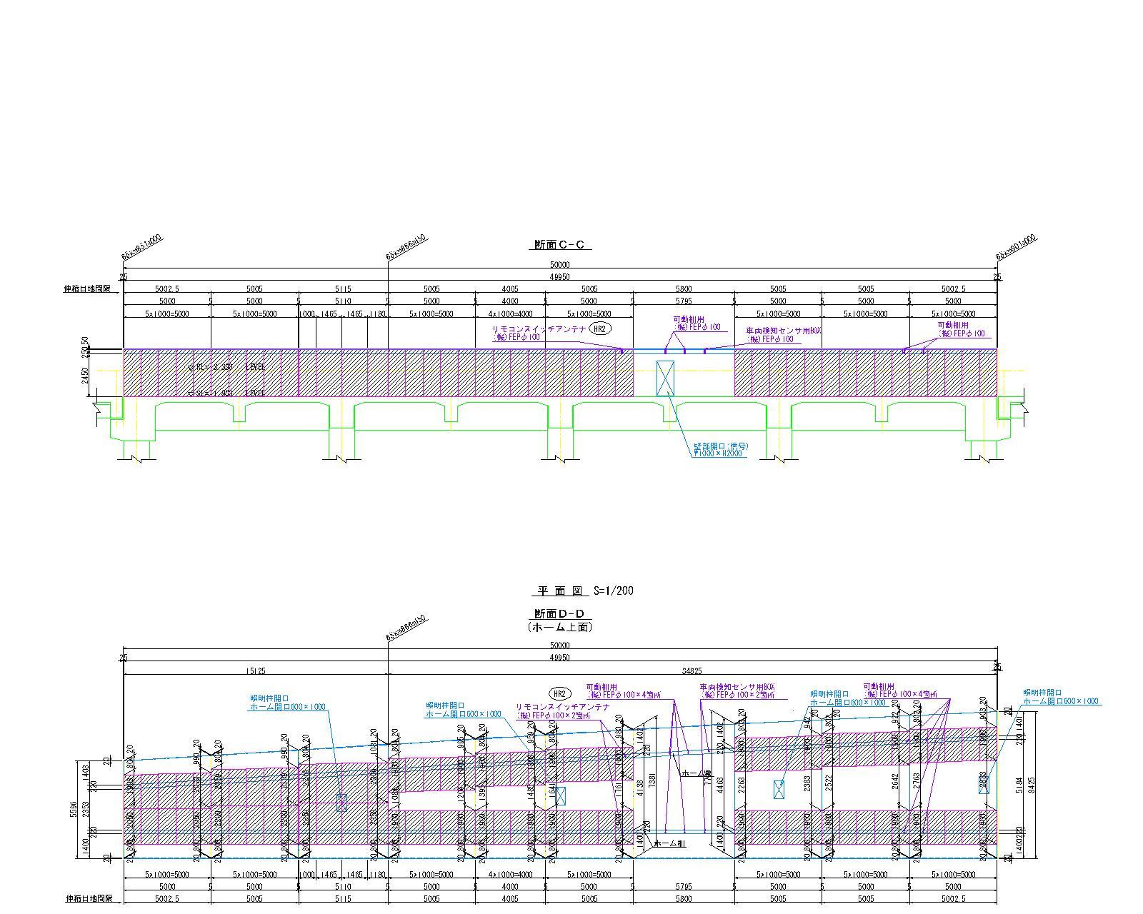 01-05_長崎StBL_HR2(下)_構造一般図(その1~3)_190319g-モデル