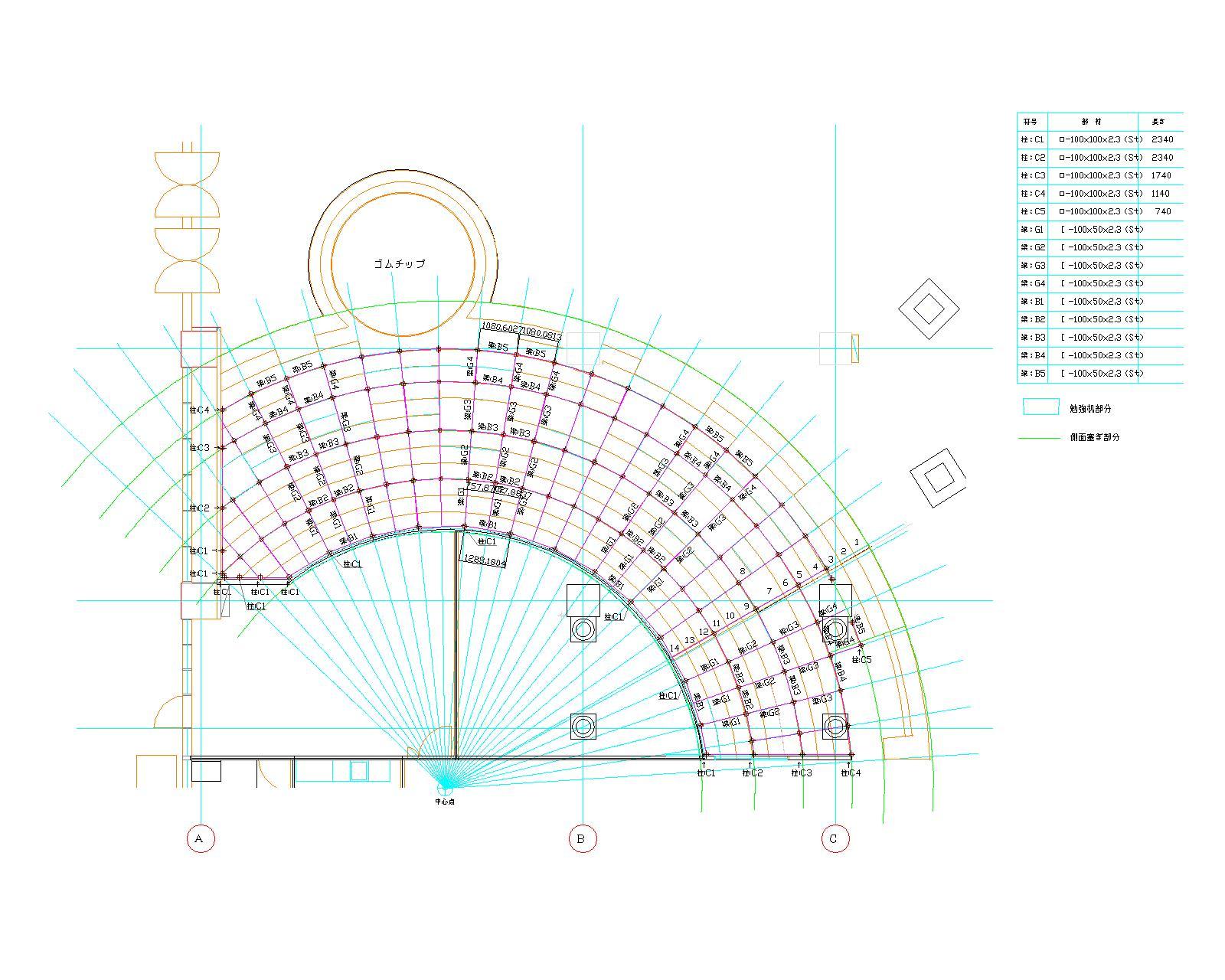 0618造作鉄骨平面図-モデル
