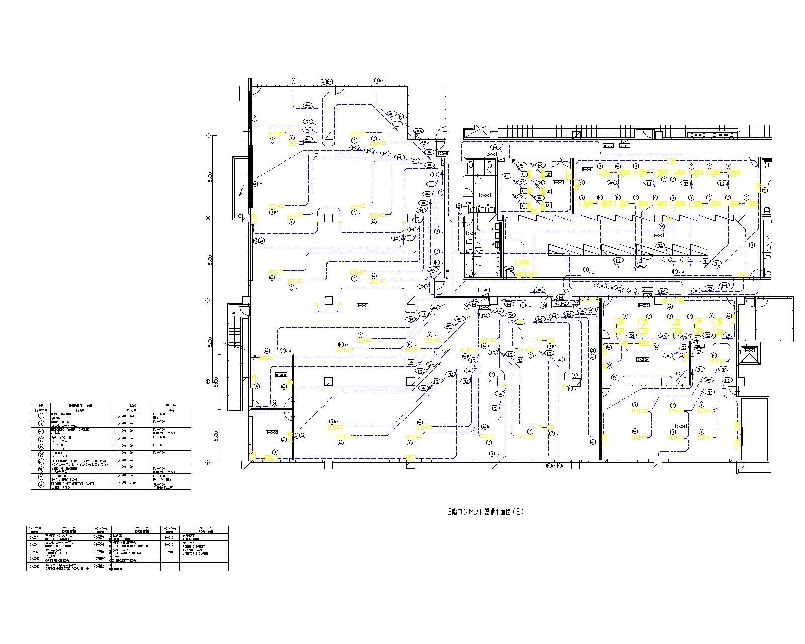 2階コンセント設備平面図(2)-モデル
