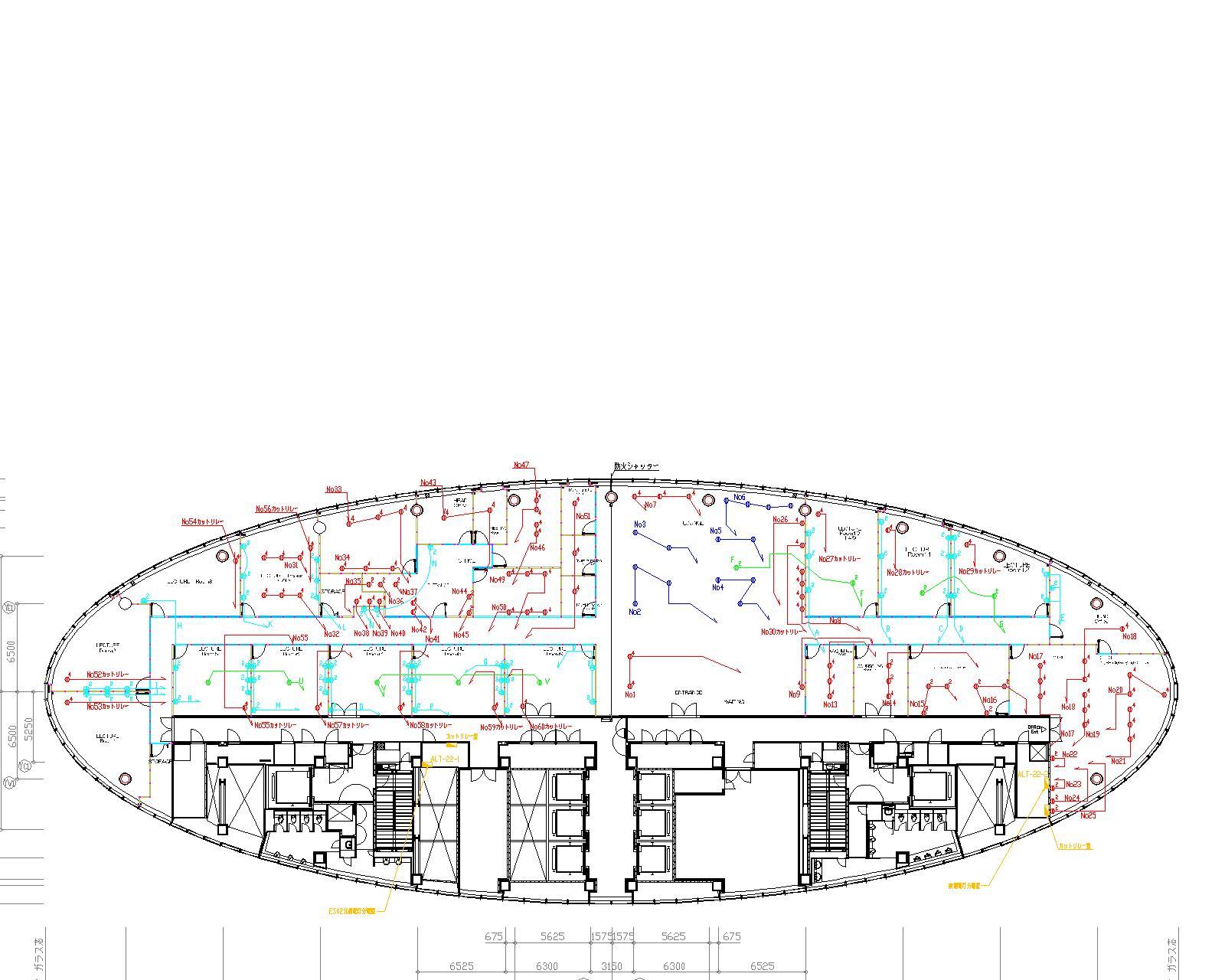 品川GEC配線平面図-モデル