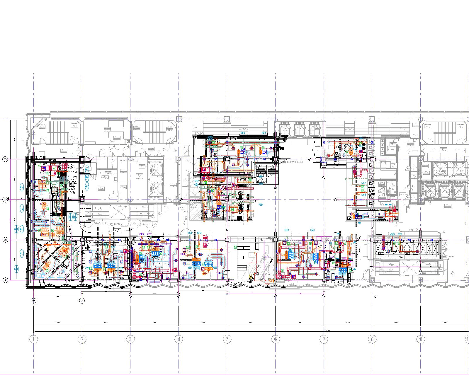 ★★12_ダクト設備平面図(6-C))3.7改正 6-A~6R-モデル